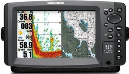 humminbird 406790-1v model 957c combo nvb color fish finder and, Fish Finder