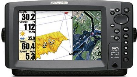 humminbird 4069601 model 967c 3d combo color fish finder and gps, Fish Finder
