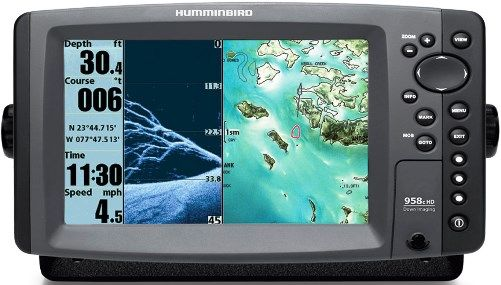 humminbird 408710-1 model 958c hd di combo, 8in color wide screen, Fish Finder