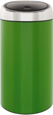 Touch Bin 45 Liter.Brabantia 424441 Deluxe Touch Bin 45 Liter Apple Green Brabantia