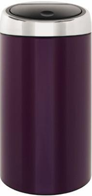 Touch Bin 45 Liter.Brabantia 424465 Deluxe Touch Bin 45 Liter Violet Purple Brabantia