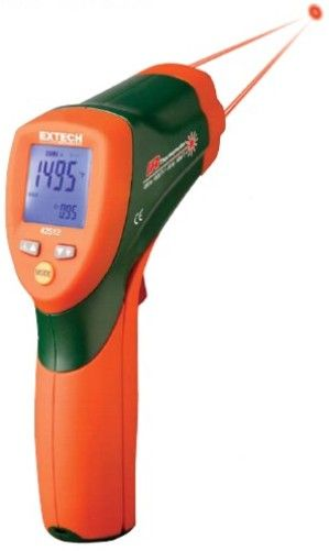 Extech 42509-NIST Dual Laser IR Thermometer with Color Alert and NIST Certificate, Fast and accurate measurements at 12