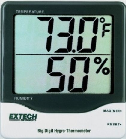 Extech 445703 Big Digit Hygro-Thermometer, 1