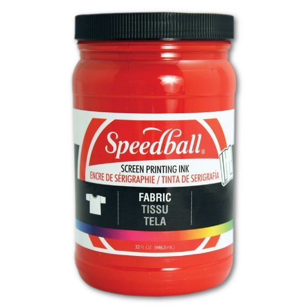 Speedball 4601 Fabric Screen Printing Ink Red; Brilliant colors, including process colors, for use on cotton, polyester, blends, linen, rayon, and other synthetic fibers; NOT for use on nylon; Also works great on paper and cardboard; Wash-fast when properly heat-set; Non-flammable, contains no solvents or offensive smell; AP non-toxic; Conforms to ASTM D-4236; Can be screen printed or painted on with a brush; Archival qualities; UPC 651032046018 (SPEEDBALL4601 SPEEDBALL 4601 SPEEDBALL-4601)