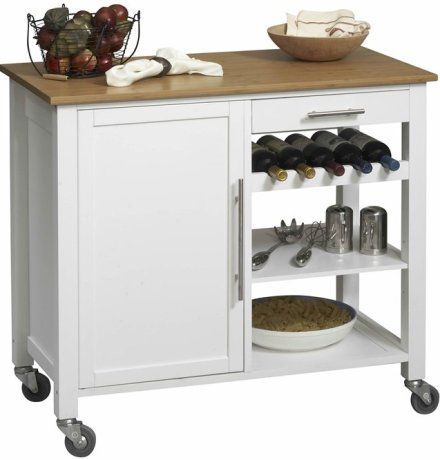 Linon 46411wht 01 Kd U Bamboo Kitchen Island Cart With Wood Top