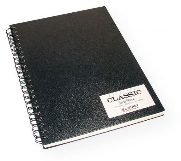 Cachet 471200912 Classic 9 x 12� Black Wirebound Sketch Book; Same great features as the CS Series sketch books, but with a lasting, double-wire binding to ensure pages always lay flat and allows for back-to-back (360 degrees) folding; Made of 70 lb, acid-free drawing paper; Shipping Weight 1.00 lb; Shipping Dimensions 12.00 x 9.00 x 0.75 inches; EAN 9781561527137 (CACHET471200912 CACHET-471200912 CACHET/471200912 DRAWING SKETCHING)