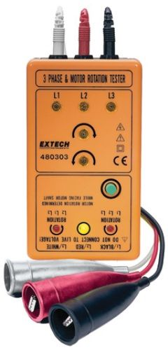 Extech 480303 rotation tester motor phase tests phase for 3 phase motor rotation