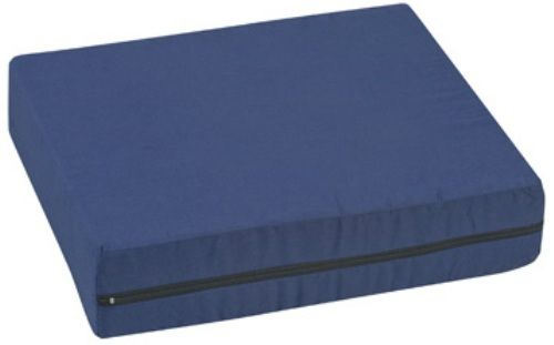 "Mabis 513-7602-2400 Standard Polyfoam Wheelchair Cushion, 16"" x 18"" x 4"", Navy, Offers soft, even support for maximum comfort and weight distribution, Constructed of highly resilient polyurethane foam, Removable, machine washable, Navy polyester/cotton cover, Foam meets CAL #117 requirements (513-7602-2400 51376022400 5137602-2400 513-76022400 513 7602 2400)"