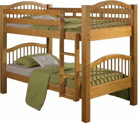 Linon 5800nn22 B Kd Twin Convertible Bunk Bed Brazilian Pine