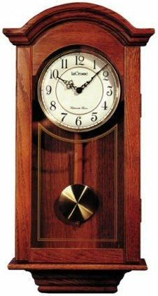 River City Clocks 6023C Classic Regulator Wall Clock, Cherry Finish; Movement: Genuine Seiko quartz; Power: One