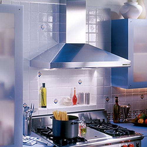 Broan 613004 Elite 61000 Series (Rangemaster Ballista) Chimney Range Hood  30 Inch Stainless Steel, Seamless Corners For Easy Cleaning, Concealed  Three Speed ...