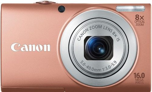 Canon 6151B001 PowerShot A4000 IS Digital Camera, Pink, 3.0-inch TFT Color LCD with wide-viewing angle, 16.0 Megapixel Image Sensor with DIGIC 4 Image Processor, 8x Optical Zoom with 28mm Wide-Angle lens and Optical Image Stabilizer, 4x Digital zoom, 1/2.3-inch CMOS, Focal Length 5.0 (W) - 40.0 (T) mm, UPC 013803146370 (6151-B001 6151 B001 6151B-001 6151B 001)