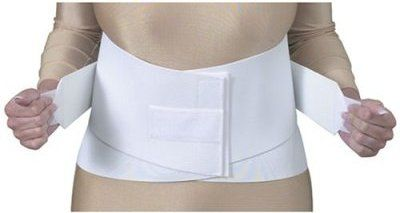 Duro-Med 632-6406-1922 S Lumbar/Sacral Belt Flex, White, Medium 30