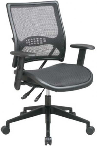 Office Star 6763 Space Collection Dual Function Air Grid Back And Seat  Managers Chair With Adjustable Arms, Air Grid Seat Back With Built In  Lumbar Support, ...