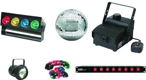Eliminator Lighting 6 PAK Stage Lighting Package include 8 in. Mirror Ball with a motor Pinspot with gel caps 400-watt Mini Fog Machine with a pint of ...  sc 1 st  SaleStores.com & Eliminator Lighting 6 PAK Stage Lighting Package include 8 in ...