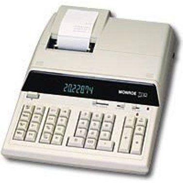 Monroe 7130 Printing Calculator Ivory Color 12 Digit