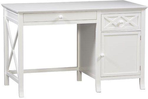 Linon 73636c118 01 Kd U Warwick Desk Stark White Finish Chinese