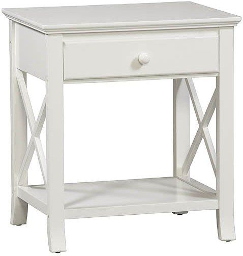 Linon 73645C118-01-KD-U Warwick End Table, Stark White