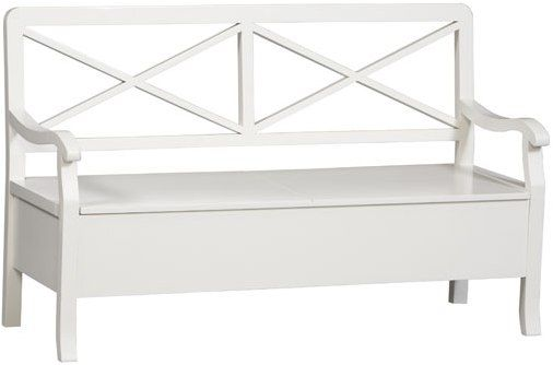 Fabulous Linon 73646C118 01 Kd U Warwick Storage Bench Stark White Beatyapartments Chair Design Images Beatyapartmentscom