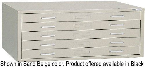 Mayline 7868cb steel plan files c files series five drawer flat mayline 7868cb steel plan files c files series five drawer flat file cabinet black self contained design with integral cap flush base or 20 high base malvernweather Gallery