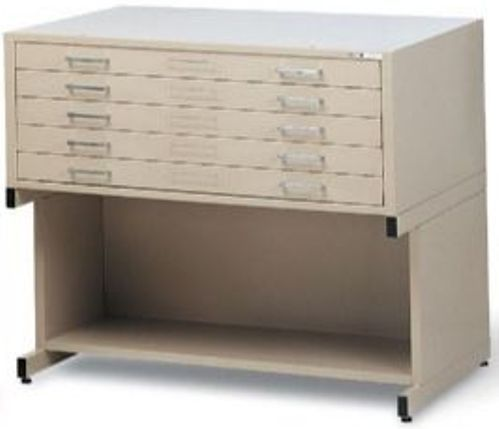 Mayline 7868cs Steel Plan Files C Series Five Drawer Flat File Cabinet Sand Beige Self Contained Design With Integral Cap Flush Base Or 20 High