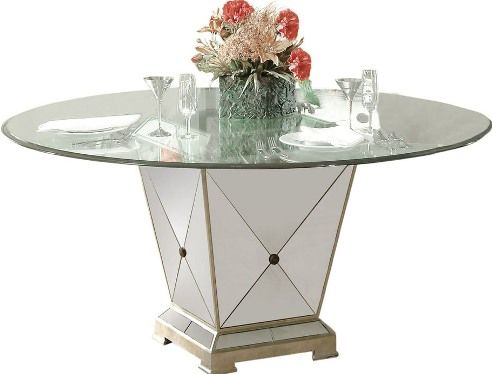 Bassett Mirror 8311 601EC Borghese Dining Table 05 H x 60 W x