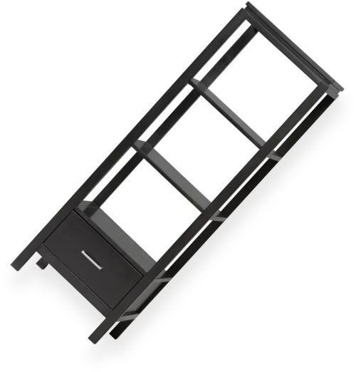 Linon 84025blk 01 Kd U Sutton Media Audio Tower Or Bookcase