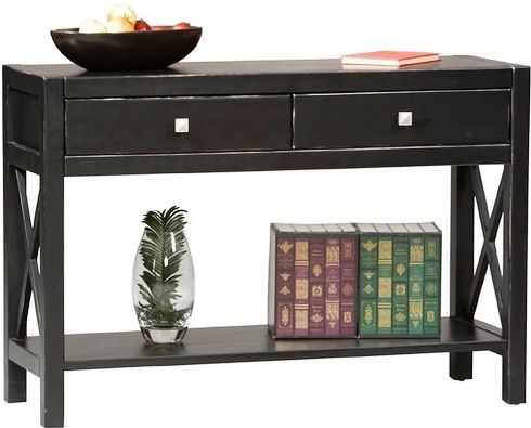 01 kd u anna console table antique black finish use behind a sofa