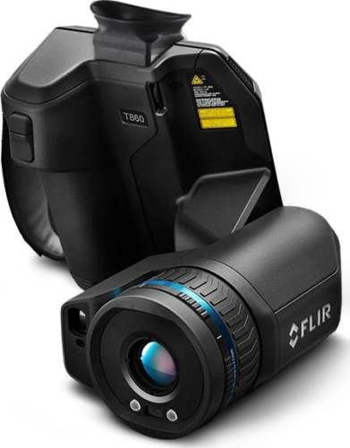 FLIR 89205-0101 Model T860-24-42 High-Performance Thermal Imaging Camera with Viewfinder and 24° + 42° Lens, 4