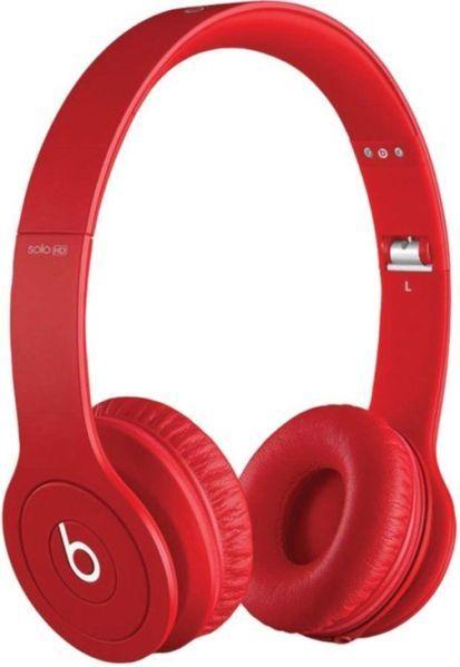 beats by dr dre ea mh9g2am a beats solo hd on ear headphones drenched in red clearer sound. Black Bedroom Furniture Sets. Home Design Ideas