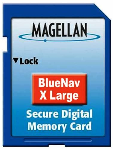 Magellan 980636-01 BlueNav Chart Extra Large SD Card For use with your