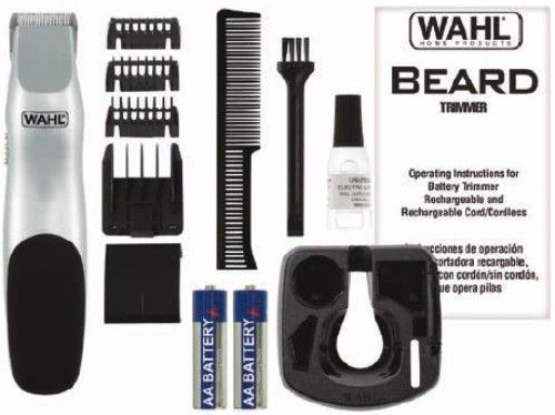 wahl 9906 718 beard 11 piece battery trimmer kit includes beard trimmer blade guard guide. Black Bedroom Furniture Sets. Home Design Ideas