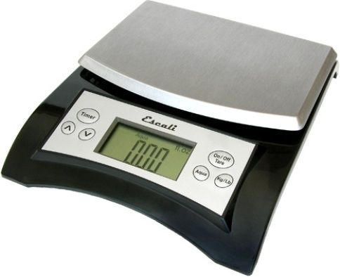 escali a115b model aqua digital scale 11 lb or gram capacity fluid ounces grams and milliliter measuring units accurately measures