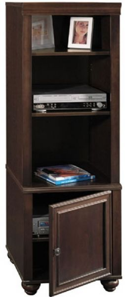Exceptionnel Bush AD09940 03 Savannah Audio Tower, 3 Shelves With 2 Adjustable,  Concealed Storage Behind A Single Door, Cabinet Door Can Be Mounted On The  Left Or Ride ...