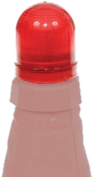 Aervoe 1195 Red LED Safety Cone Light, Red Color, Fits on top of the 1190 or 1191 Collapsible Safety Cone, May also be mounted to other structures utilizing an approximate 1