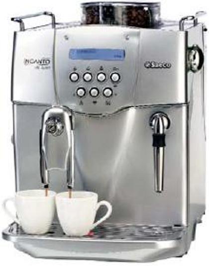 Coffee Maker With Bean Hopper : Saeco A-ID-SS model Incanto Deluxe Super Automatic Espresso Machine, 3 programmable brew ...
