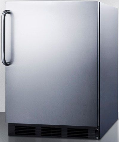 summit al752bcss compact all refrigerator with adjustable. Black Bedroom Furniture Sets. Home Design Ideas