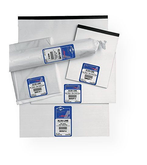Alvin 6855/S-XO-7 Alva Line 100 percent Rag Vellum Tracing Paper 10 Sheet Pack 17 x 22 Series 6855; Medium weight 16 lb basis; Vellum paper manufactured from 100 percent new cotton rag fibers with a non-fading blue white tint; Resists aging and yellowing; Type Tracing; Shipping Dimensions 17.00 x 22.00 x 0.25 inches; Shipping Weight 0.81 lb; UPC 088354202851 (ALVIN6855SXO7 ALVIN-6855/S-XO-7 6855-S-XO-7 OFFICE)