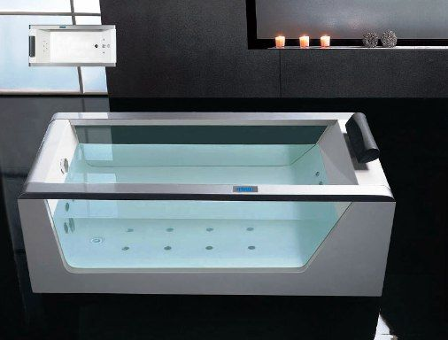 Ariel platinum am152 jacuzzi whirlpool beautiful cascade water inlet 15 jet - Jacuzzi 2 places dimensions ...