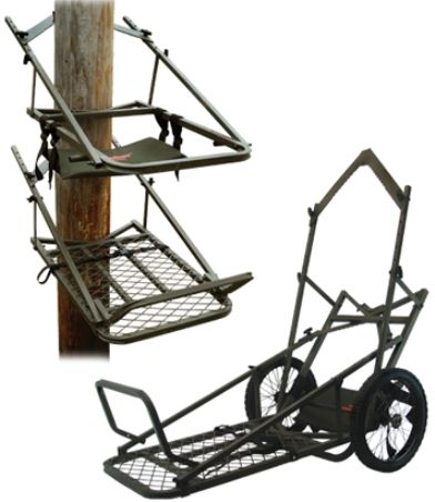 Amacker am82021 climb carry game cart climber combo for Climbing tree stand plans