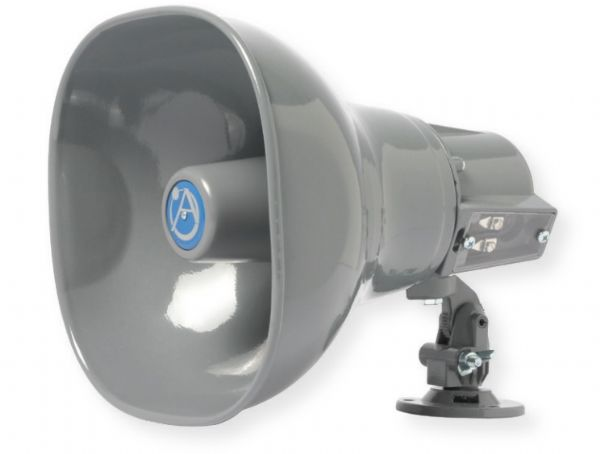 Atlas Sound AP-15T Horn Loudspeaker with 15 Watt 25V, 70V, 100V Transformer; Grey; Double re entrant loudspeakers which deliver 15 watts of continuous power handling, superior intelligibility and unparalleled efficiency; Environment resistant for outdoor and indoor use; UPC 612079110353 (AP-15T AP15T LOUDSPEAKER-AP-15T LOUDSPEAKER-AP15T ATLASAP-15T AP-15T-ATLAS)
