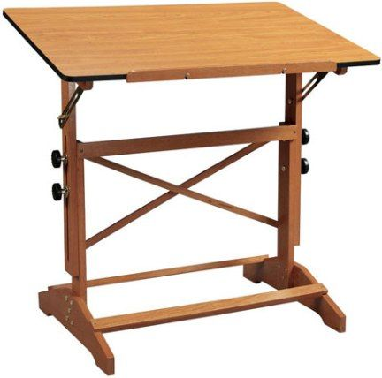 Alvin AP442 WBR Pavilion Art And Drawing Table With Cherry Melamine Top,  Board Angle