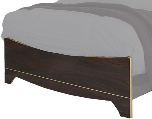 Ashley B247-56 Lenmara Series King Panel Footboard, Deep dark red finish with replicated mahogany grain, Accented in a gold color trim for a sophisticated contemporary look, Dimensions 80.00
