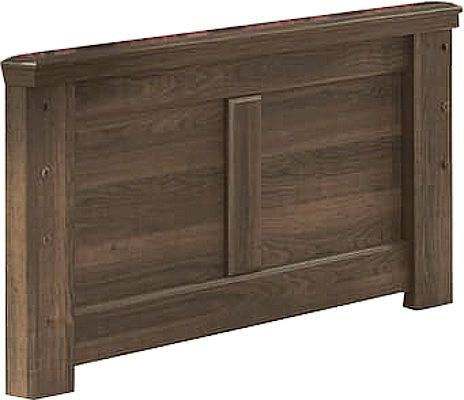 Ashley B251-52 Juararo Series Twin Panel Footboard, Vintage aged brown rough sawn finish over replicated oak grain, Dimensions 42.13