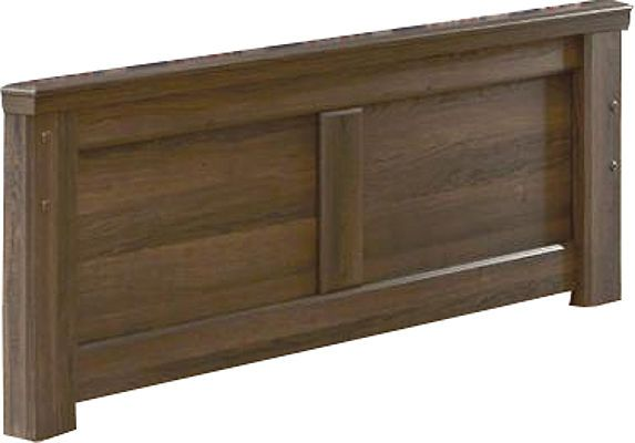 Ashley B251-84 Juararo Series Full Panel Footboard, Vintage aged brown rough sawn finish over replicated oak grain, Dimensions 57.13