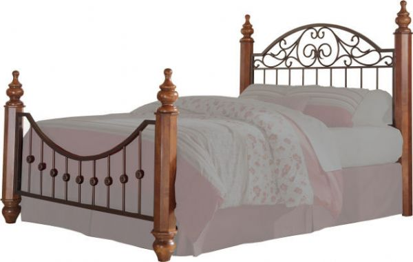 Bon Ashley B429 72 Wyatt Series King/Cal King Headboard And Footboard Panels,  Reddish Brown, Enhanced By The Overlay Pilasters And Medium Brown Cherry  Stained ...