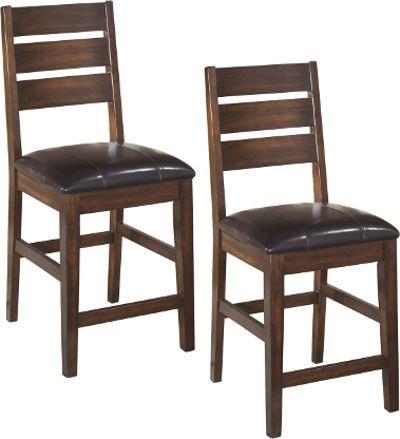 Astounding Ashley D442 124 Larchmont Series Upholstered Barstool Price Ncnpc Chair Design For Home Ncnpcorg