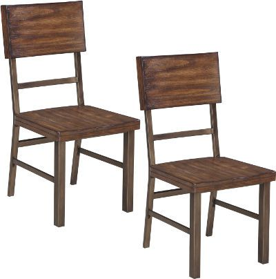 Ashley D572 01 Riggerton Series Dining Room Side Chair Price Per Unit Can Only Be Purchased In Sets Of 2 Chairs Frames Are Made With Tubular Metal