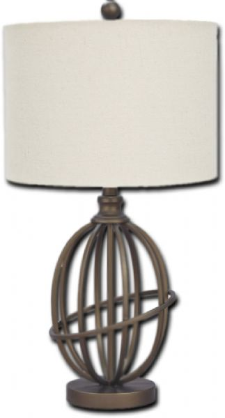 Ashley L204164 Furniture Signature Design, Manasa Metal Table Lamp, Traditional, Bronze Finish; 1 type A bulb (not included), 100 watts max or CFL 23 watts max; UL Listed; Clean with a soft, dry cloth; Assembly required; You'll love the classy allure this lamp adds to your space; Designed with eye-catching curves, this piece will round out your space in all the right ways; UPC 024052481945 (ASHLEYL204164 ASHLEY L204164 FURNITURE LAMP TRADITIONAL)