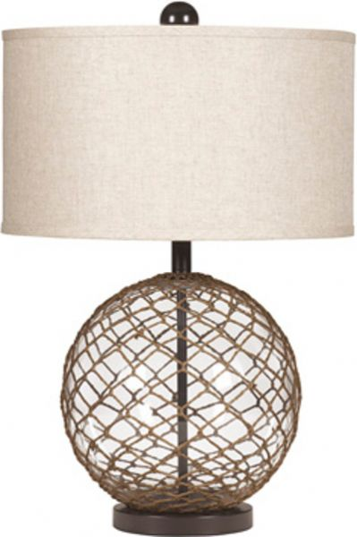 Ashley l439564 regina series glass table lamp price per unit can ashley l439564 regina series glass table lamp price per unit can only be purchased in sets of 2 clear glass wrapped in rope with brown finished metal mozeypictures Images